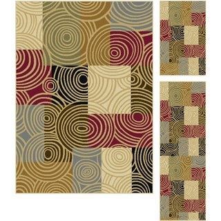 Alise Lagoon Multi 3-piece Area Rug Set