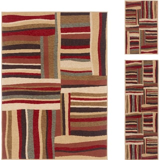 Lagoon Multi Contemporary 3-Piece Area Rug Set