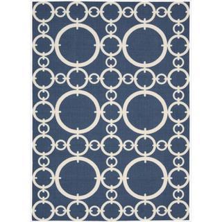 Waverly Sun & Shade Navy Rug (10' x 13')