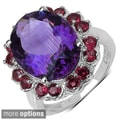 Sterling Silver Amethyst/ Rhodolite or Smokey Topaz Ring