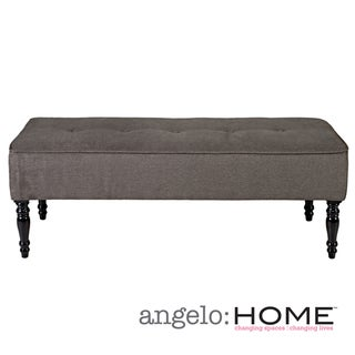 angelo:HOME Brighton Hill Parisian Smoky Gray Velvet Large Bench