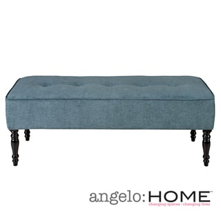angelo:HOME Brighton Hill Parisian Blue Evening Velvet Large Bench