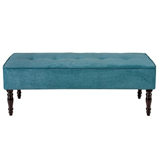 angelo:HOME Brighton Hill Parisian Teal Blue Velvet Large Bench
