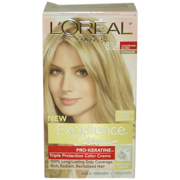 L Oreal Excellence Creme Pro Keratine Champagne Blonde 8