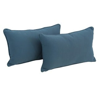Blazing Needles 20 x 12-inch Twill Back Support Pillows with Cording (Set of 2)