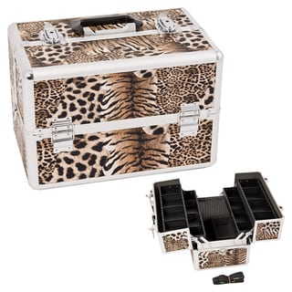 Justcase Brown Leopard Makeup Case