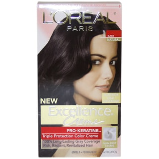 L'Oreal Excellence Creme Pro Keratine Black Natural #1 Hair Color