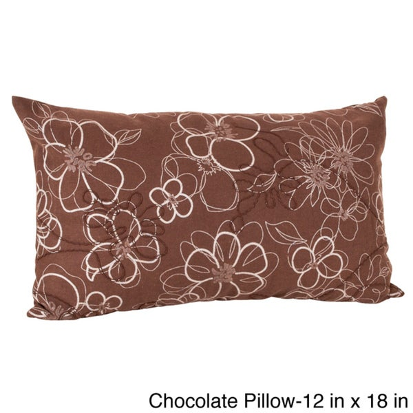 Flower Design Throw Pillow