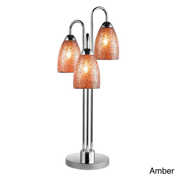 Venezia 3-light Mosaic Glass/ Chrome Table Lamp