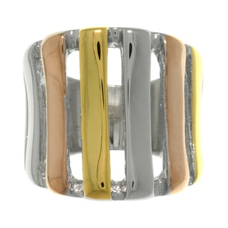 CGC Tri-color Stainless Steel Open Stripe Ring
