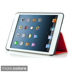 MEE Apple iPad Mini Premium Leatherette Stand Case with holding strap