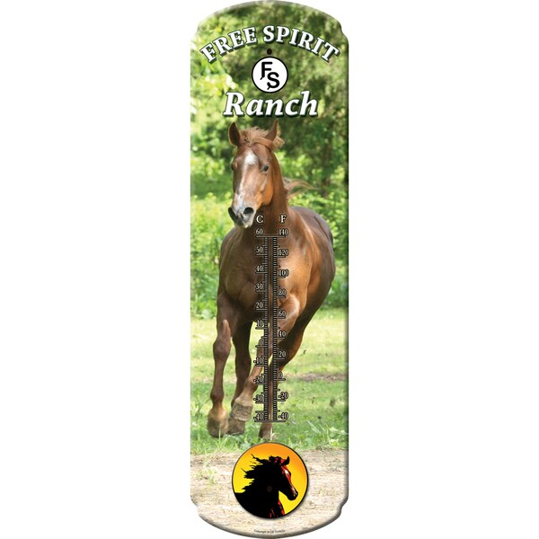 River's Edge Products Large Horse Tin Thermometer 1369
