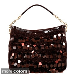 Nicole Lee 'Raven' Large Sequin/ Bead Hobo Bag