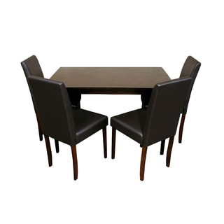 Warehouse of Tiffany 5-piece Black Dining Furniture Set