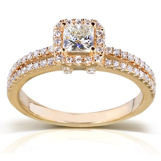 Annello 14k Yellow Gold 3/4ct TDW Diamond Engagement Ring (H-I, I1-I2)