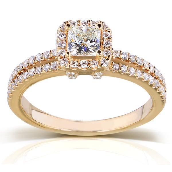 Annello 14k Yellow Gold 3/4ct TDW Diamond Engagement Ring (H-I, I1-I2)