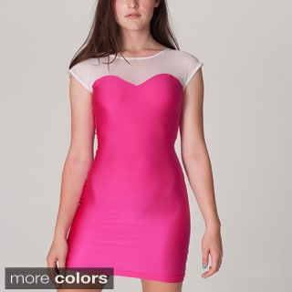 American Apparel Women's Sweetheart Two-Toned Mini Dress