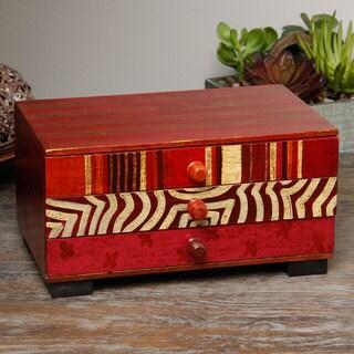 Miski Red Wooden Jewelry Box (Peru)