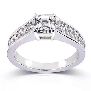Annello 14k White Gold 2 1/3ct TDW Certified Diamond Engagement Ring (H, SI1)