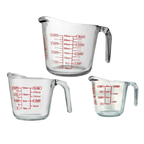 Anchor Hocking 3-piece Open Handle Measuring Cup Set