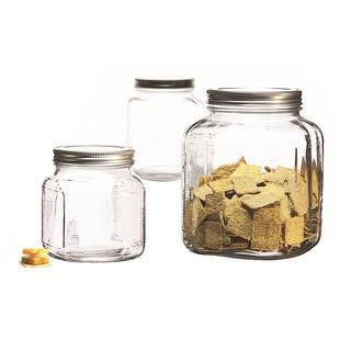 Anchor Hocking 3-piec Cracker Jar Set