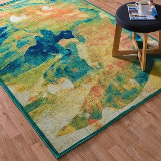 Laurent Tropical Island Rug (5'2 x 7'7)