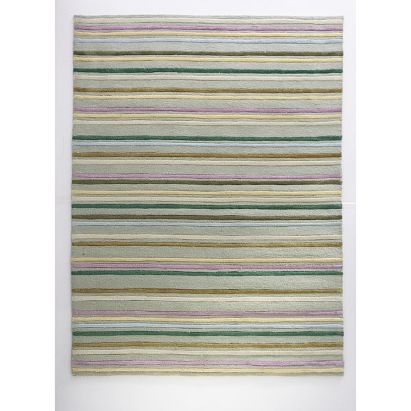 Hand-tufted Kelsey Green Rug (5'0 x 7'0)