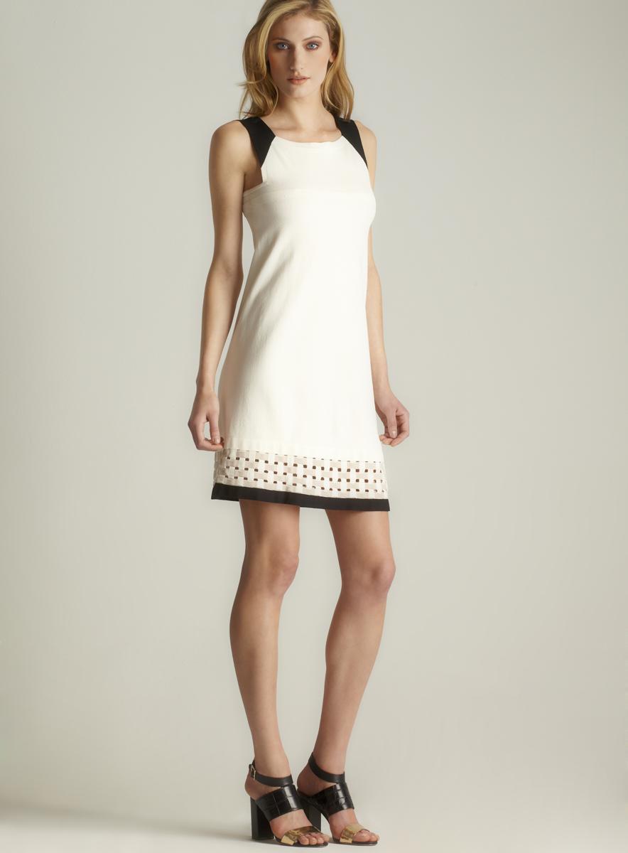 D.Exterior Colorblock Knit Tank Dress