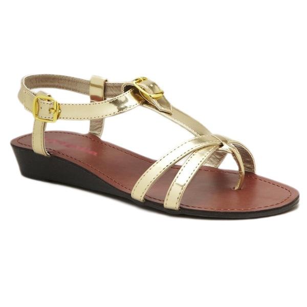 Pink & Pepper Flat T-strap Sandal