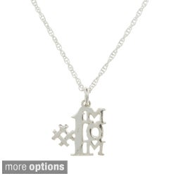 Sterling Essentials Sterling Silver #1 Mom French Rope Necklace