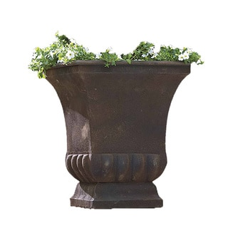 Large Rustic Metal Planter Urn