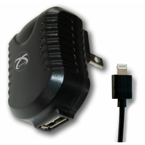 Symtek TekPower USB AC Charger with Charge & Sync Cable with Lightning Connector