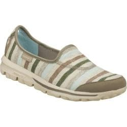 Women's Skechers GOwalk Stripy Gray