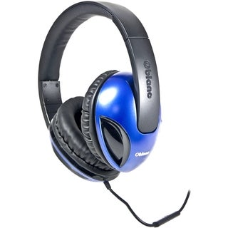 SYBA Multimedia Oblanc Cobra Blue Stereo Headphone W/In-line Micropho