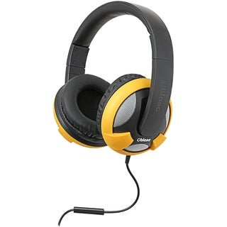 SYBA Multimedia Oblanc U.F.O. Yellow Stereo Headphone w/In-line Micro
