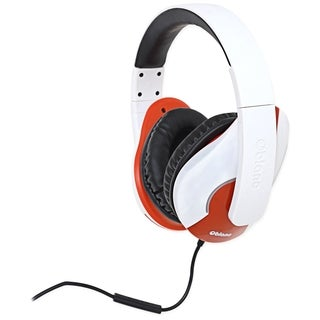 SYBA Multimedia Oblanc Shell (White/Red) Stereo Headphone w/In-line M