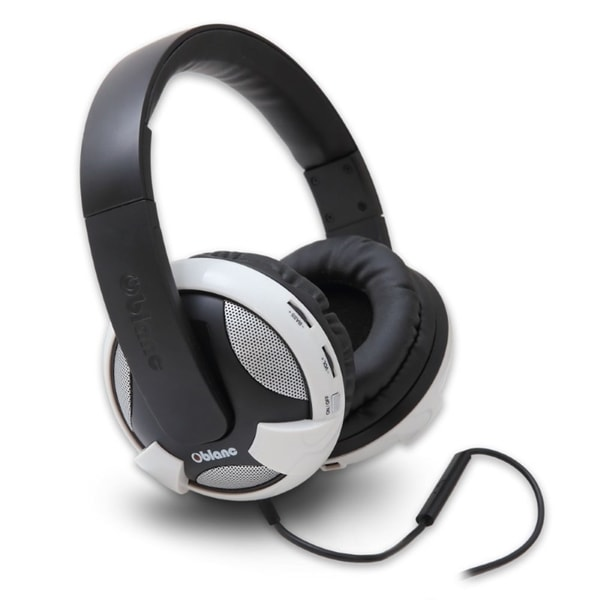 Oblanc Black/ White UFO210 NC2 2.1 Amplified Stereo Gaming Headphone with Mic