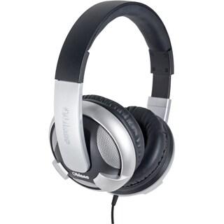 SYBA Multimedia Oblanc U.F.O. Silver Subwoofer Headphone w/In-line Mi