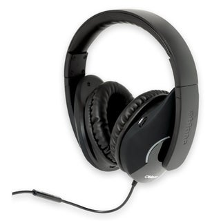 SYBA Multimedia Oblanc Shell Black Subwoofer Headphone w/In-line Micr