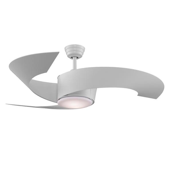 Fanimation 52-inch Matte White 2-light Ceiling Fan