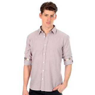 191 Unlimited Men's Slim Fit Striped Woven Shirt