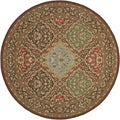Pera Hereke/ Multi-chocolate Round Rug (7'10)