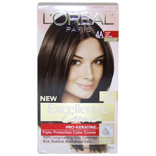 L'Oreal Excellence Creme Pro Keratine Dark Ash Brown #4A Hair Color