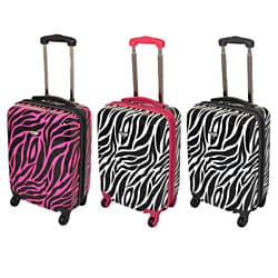 American Travel Zebra 20-inch Carry On Hardside Spinner Upright Suitcase