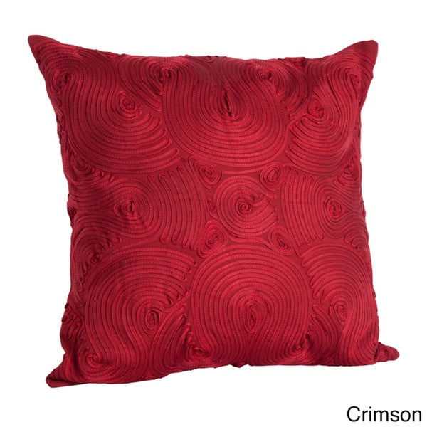 Embroidered Design 18-inch x 18-inch Decorative Throw Pillow - 15260035 - Overstock.com Shopping ...
