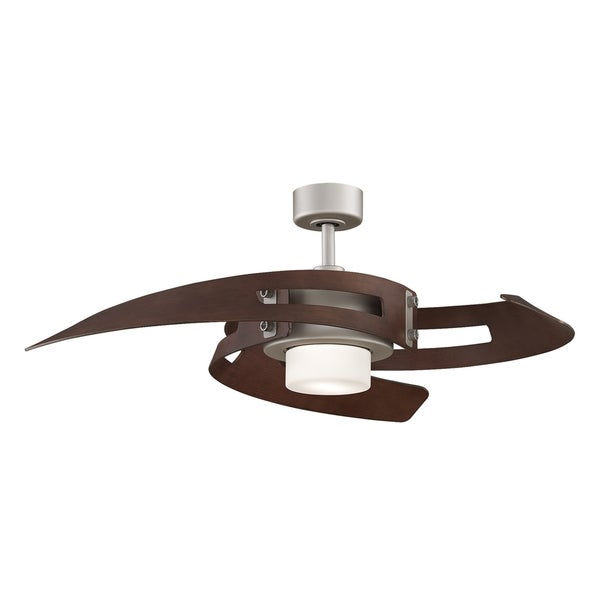 Fanimation Satin Nickel 2-light Ceiling Fan