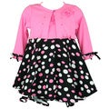 Rare Editions Polka Dot Cardigan Dress