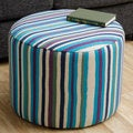 Striped Blue/ Green Ottoman (Peru)