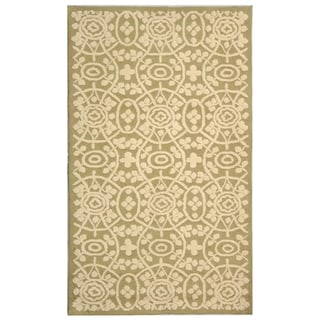 Martha Stewart Bloomery Linen Cotton Rug (5' 6 x 8' 6)