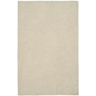 Martha Stewart Sprig Snowberry Cotton Rug (9' 6 x 13' 6)